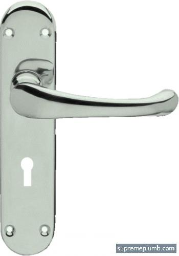 Hilton Lever Lock Satin Nickel